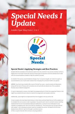 Special Needs I Update
