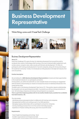 Business Development Representative