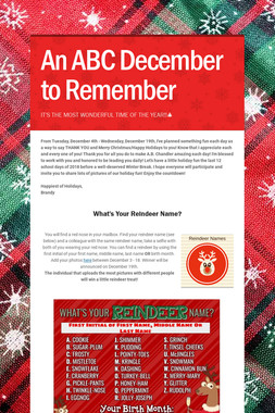 An ABC December to Remember