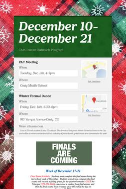 December 10-December 21