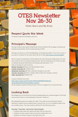OTES Newsletter Nov 26-30