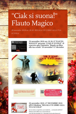 """""""Ciak si suona!"""" Flauto Magico"""