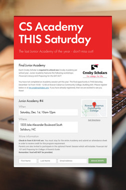 CS Academy THIS Saturday