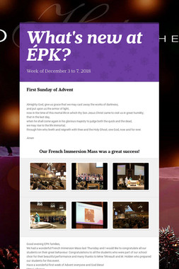 What's new at ÉPK?