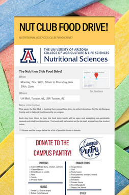 NUT CLUB FOOD DRIVE!
