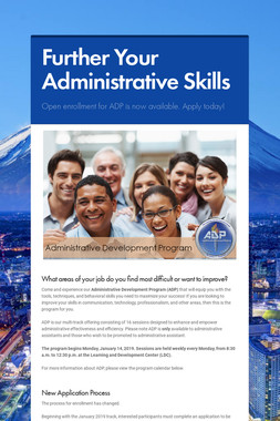 Further Your Administrative Skills