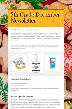 5th Grade December Newsletter