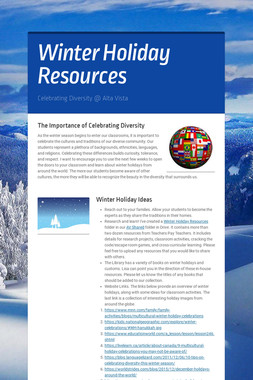 Winter Holiday Resources