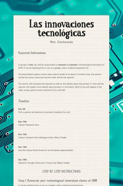 Las innovaciones tecnológicas