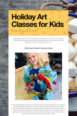 Holiday Art Classes for Kids