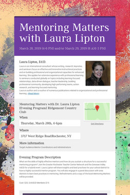 Mentoring Matters with Laura Lipton