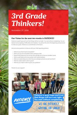 3rd Grade Thinkers!
