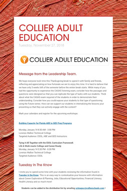COLLIER ADULT EDUCATION