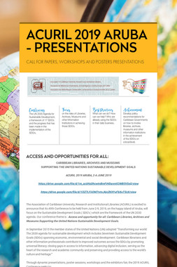 ACURIL 2019 ARUBA - PRESENTATIONS