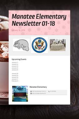 Manatee Elementary Newsletter 01-18