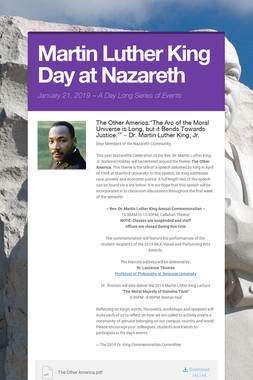 Martin Luther King Day at Nazareth