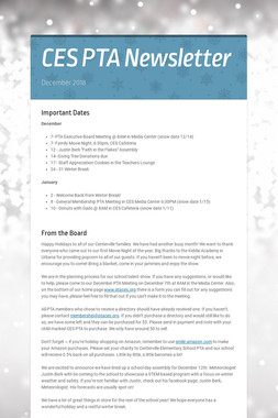 CES PTA Newsletter