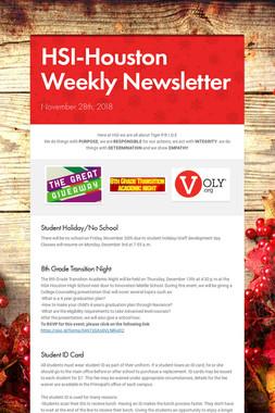 HSI-Houston Weekly Newsletter