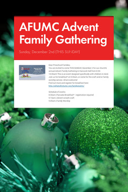 AFUMC Advent Family Gathering