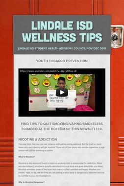 Lindale ISD Wellness Tips