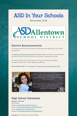 ASD In Your Schools