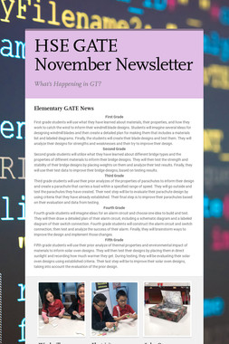 HSE GATE November Newsletter