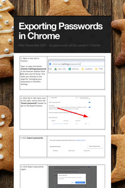 Exporting Passwords in Chrome