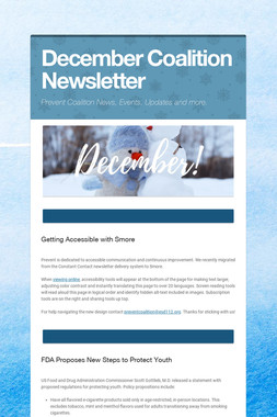 December Coalition Newsletter