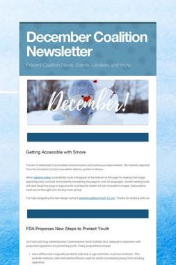 December Coalition Newsletter