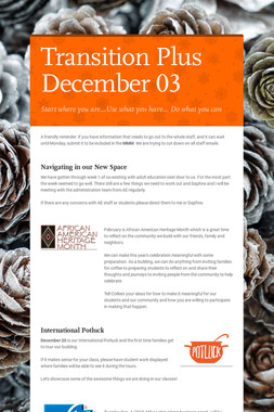 Transition Plus         December 03
