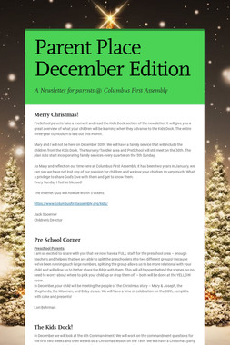 Parent Place December Edition