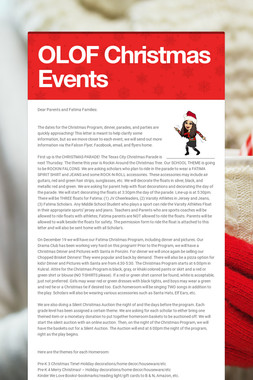OLOF Christmas Events