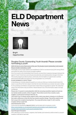 ELD Department News