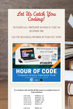 Let Us Catch You Coding!