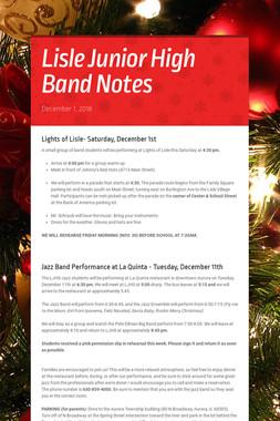 Lisle Junior High Band Notes