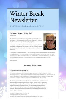 Winter Break Newsletter
