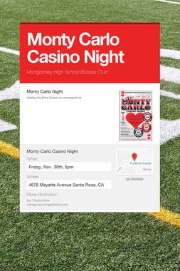Monty Carlo Casino Night