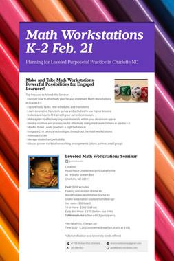 Math Workstations K-2  Feb. 21