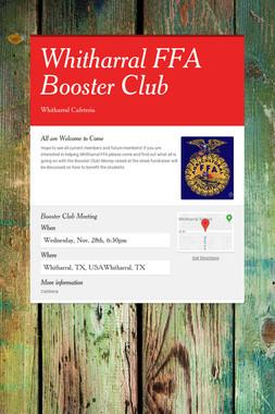 Whitharral FFA Booster Club