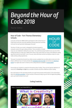 Beyond the Hour of Code 2018