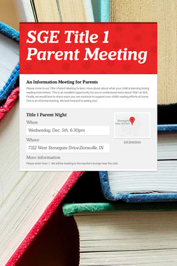 SGE Title 1 Parent Meeting