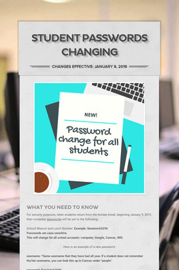 Student Passwords Changing