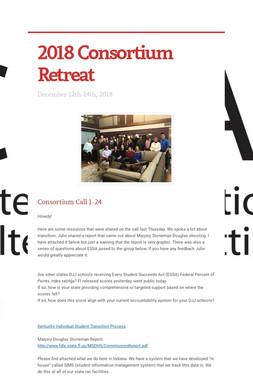 2018 Consortium Retreat