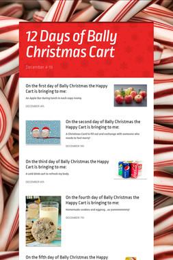 12 Days of Bally Christmas Cart
