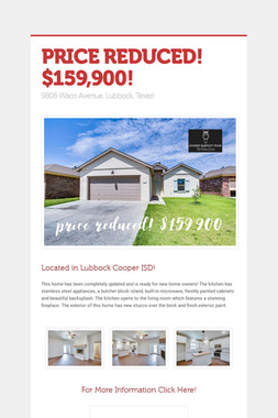 PRICE REDUCED! $159,900!