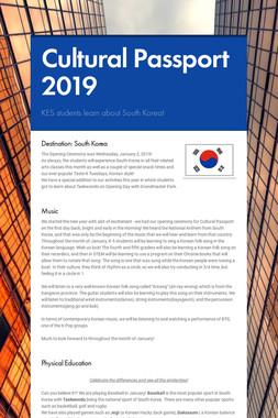 Cultural Passport 2019