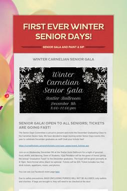 First Ever Winter Senior Days!