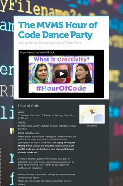 The MVMS Hour of Code Dance Party