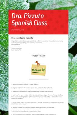 Dra. Pizzuto Spanish Class