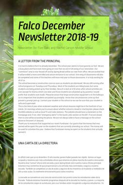 Falco December Newsletter  2018-19